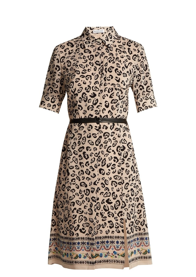 on feet shots of exceptional range of colors professional Altuzarra Altuzarra Keiran leopard-print silk shirt dress ...