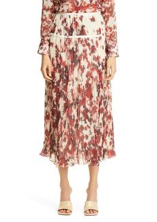 Altuzarra Kemmaren Floral Pleated Georgette Skirt