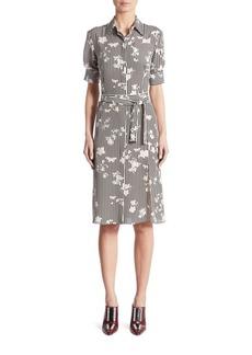 Altuzarra Kieran Negative Floral-Print Silk Shirtdress