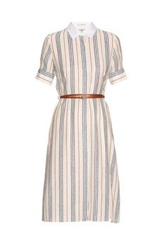 Altuzarra Kieran striped crepe de Chine shirtdress