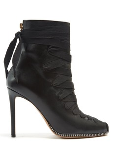 Altuzarra Lace-up leather ankle boots