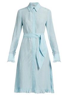 Altuzarra Laguna checked dress