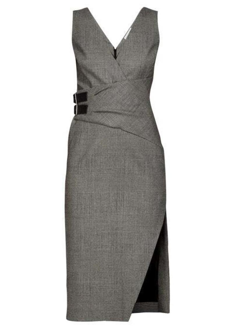 Altuzarra Lazarus Prince of Wales-checked wool-blend dress