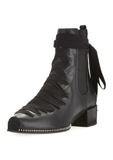 Altuzarra Leather Lace-Up Block-Heel Boot