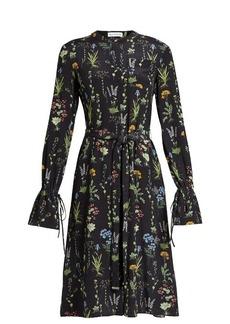 Altuzarra Leighton floral-print long-sleeved midi dress