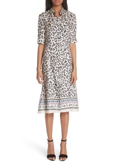 Altuzarra Leopard Print Silk Shirtdress