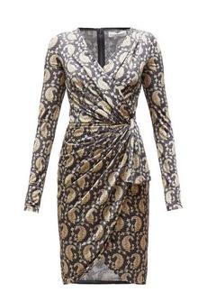 Altuzarra Louise paisley-print jersey wrap-front dress
