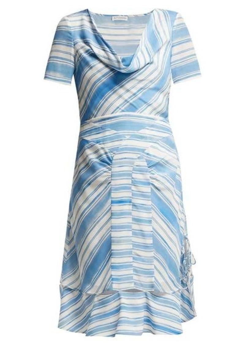Altuzarra Lucia striped silk midi dress