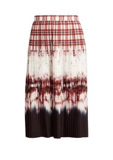 Altuzarra Lucille check-dégradé pleated skirt