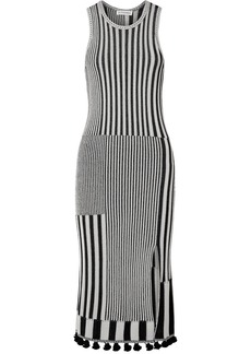 Altuzarra Lutetia Tasseled Ribbed Stretch-knit Midi Dress