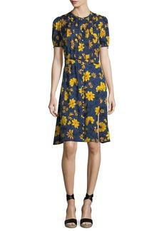 Altuzarra Madelena Short-Sleeve Floral-Print Dress