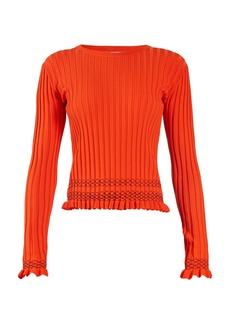 Altuzarra Malou ruffled-cuff ribbed-knit sweater