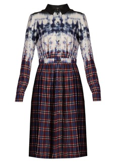 Altuzarra Maria tie-dye and check-print shirtdress