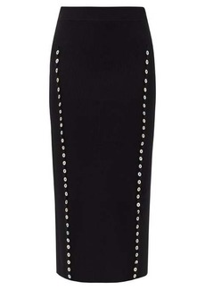 Altuzarra Marilla buttoned-seam ribbed pencil skirt