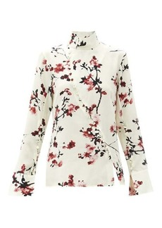 Altuzarra Marjorie cherry blossom high-neck silk blouse