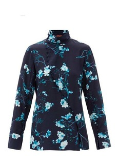 Altuzarra Marjorie floral-print silk top