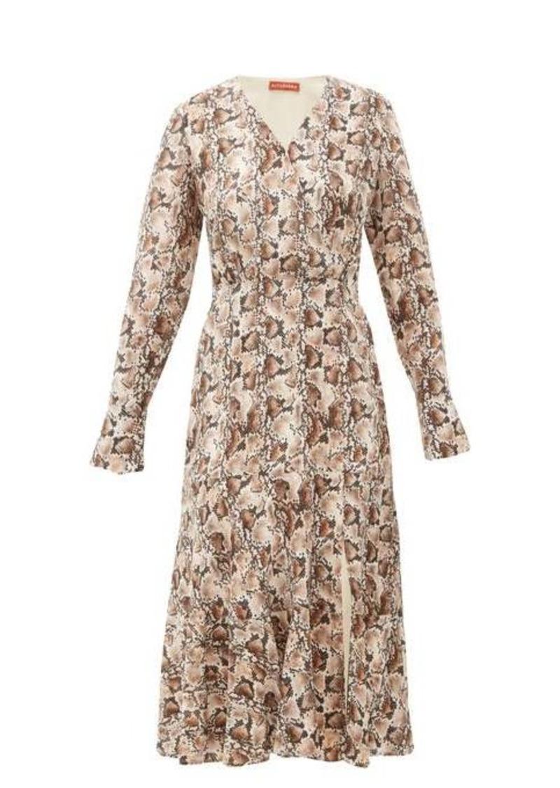 Altuzarra Martha snake-print silk midi dress