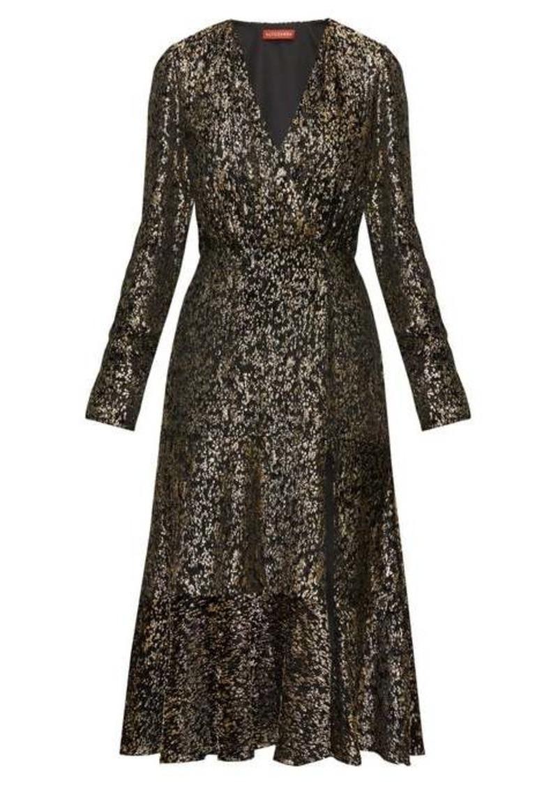 Altuzarra Martha V-neck devoré-velvet midi dress