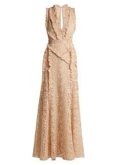 Altuzarra Medina Valencienne lace ruffle-trimmed dress