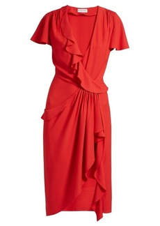 Altuzarra Mesilla ruffled silk-blend dress