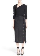 Altuzarra 'Minamoto' Asymmetrical Button Detail Wool Sweater