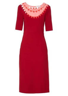 Altuzarra Minnie cut-out neck stretch-cady dress
