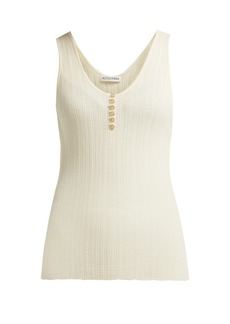 Altuzarra Mirto pointelle-knit wool and cashmere-blend top