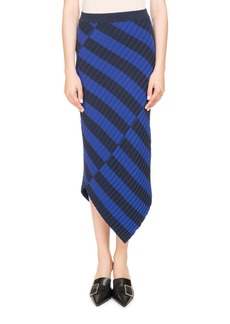 Altuzarra Mixed-Stripe Knit Skirt