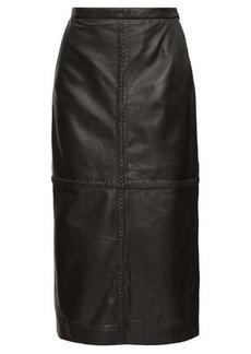 Altuzarra Mooney panelled leather midi skirt