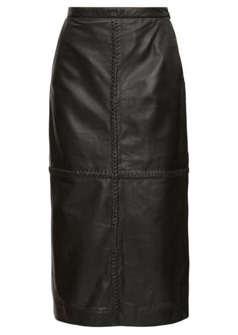Altuzarra Mooney panelled leather midi skirt