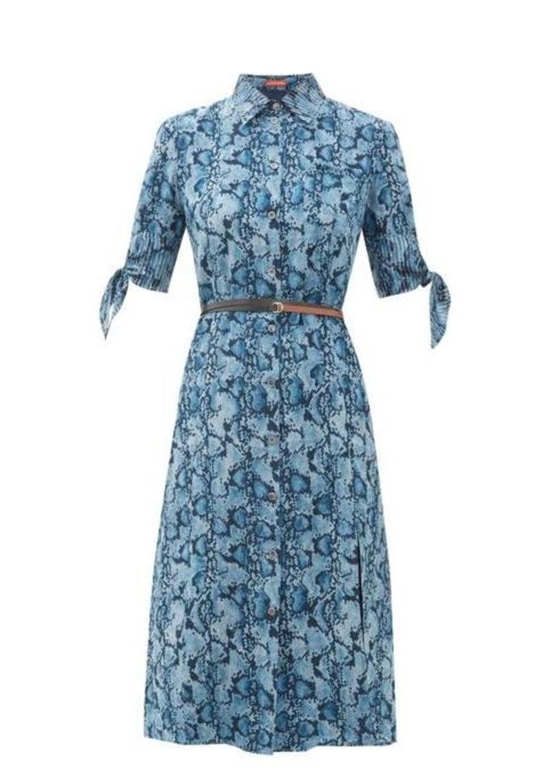 Altuzarra Narcissa python-print silk-crepe dress