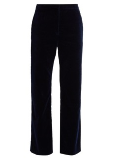 Altuzarra Nettle kick-flare velvet cropped trousers