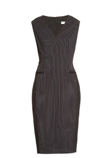 Altuzarra Nico hairline-stripe wool-blend dress