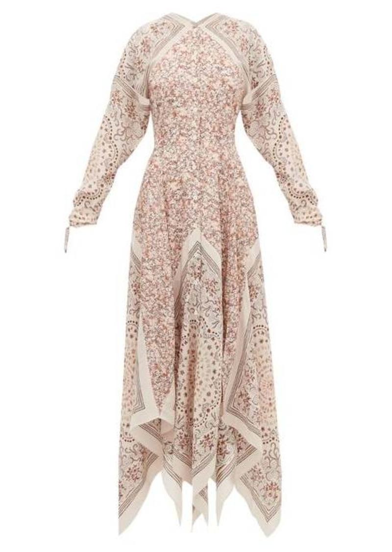 Altuzarra North West scarf-print silk dress