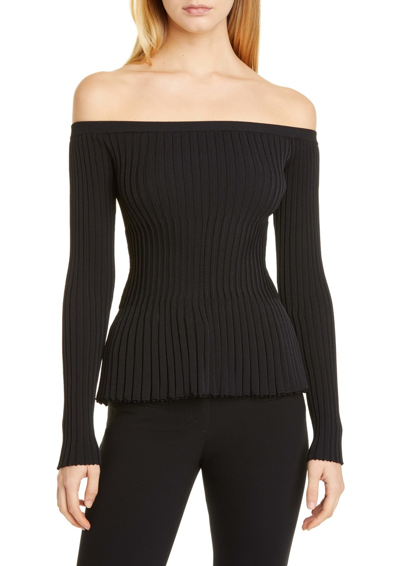 Altuzarra Off the Shoulder Rib Sweater