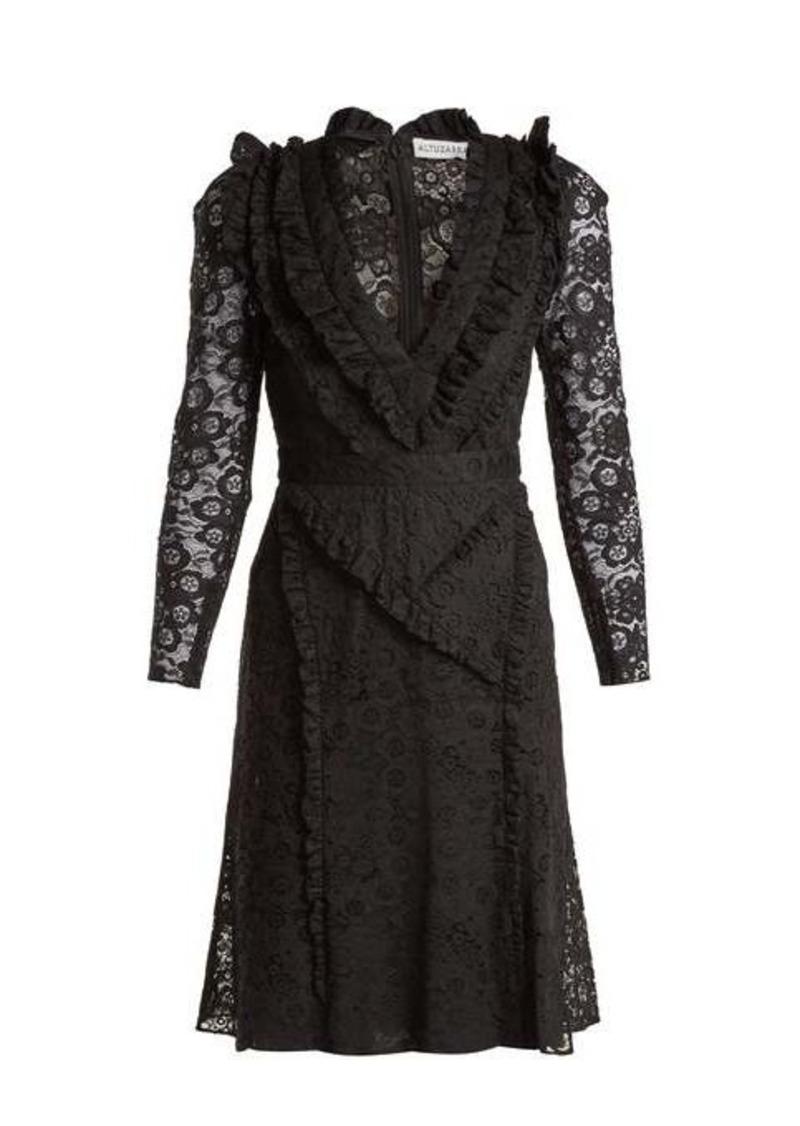 Altuzarra Ourika Valencienne lace ruffle-trimmed dress
