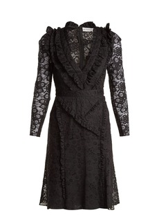 Altuzarra Ourika Valencienne lace ruffle-trimmed dress