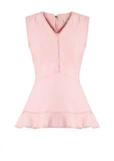 Altuzarra Ozark raw-seam peplum top
