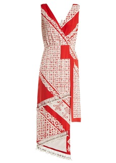 Altuzarra Pavilion bandana-print silk dress