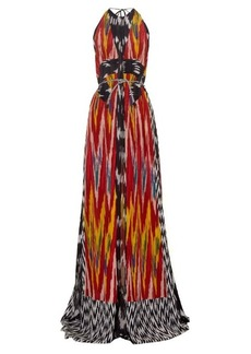 Altuzarra Peacock ikat-print silk maxi dress