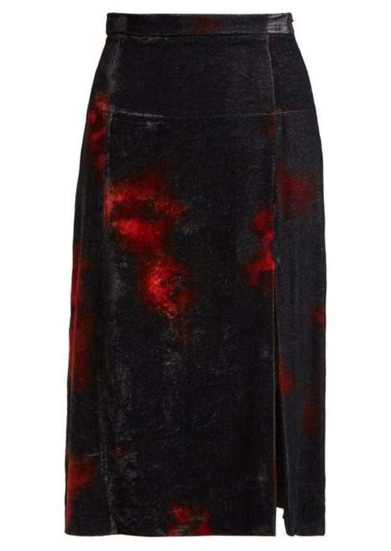Altuzarra Pennant tie-dye velvet midi skirt