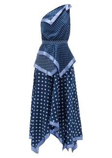Altuzarra Petrel one-shoulder polka-dot silk midi dress