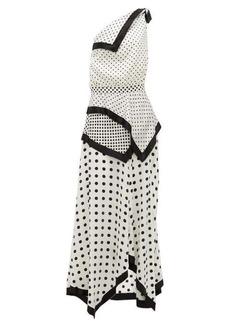 Altuzarra Petrel one-shoulder polka-dot silk-satin dress