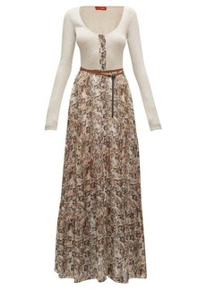 Altuzarra Pollie belted snakeskin-print maxi dress