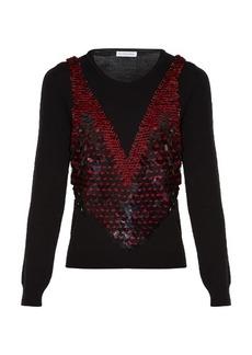 Altuzarra Powell sequinned wool sweater