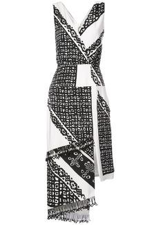 Altuzarra printed asymmetric dress - Black