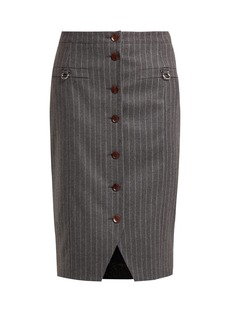 Altuzarra Quill pinstriped wool-blend skirt
