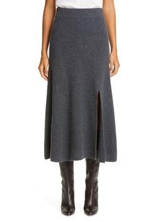 Altuzarra Rib Slit Cashmere Skirt