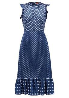 Altuzarra Rosa polka-dot silk-satin dress