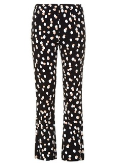 Altuzarra Ross polka-dot stretch-cady flared trousers